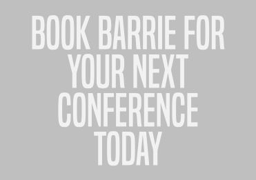 book barrie as your next conference speaker presenter
